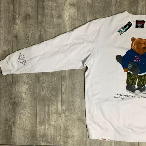 NEW Diamond X Grizzly Logo BEAR Sweater XL
