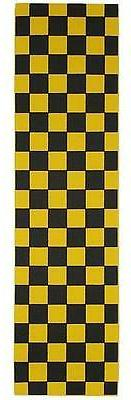 New FKD Grip Checkers Black/Yellow Skateboard Griptape -