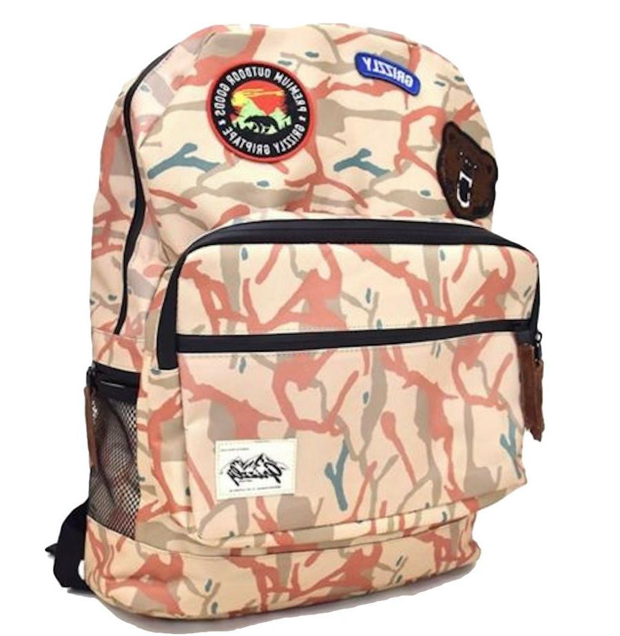 New Grizzly Tan Mens Backpack School Travel BCK-794