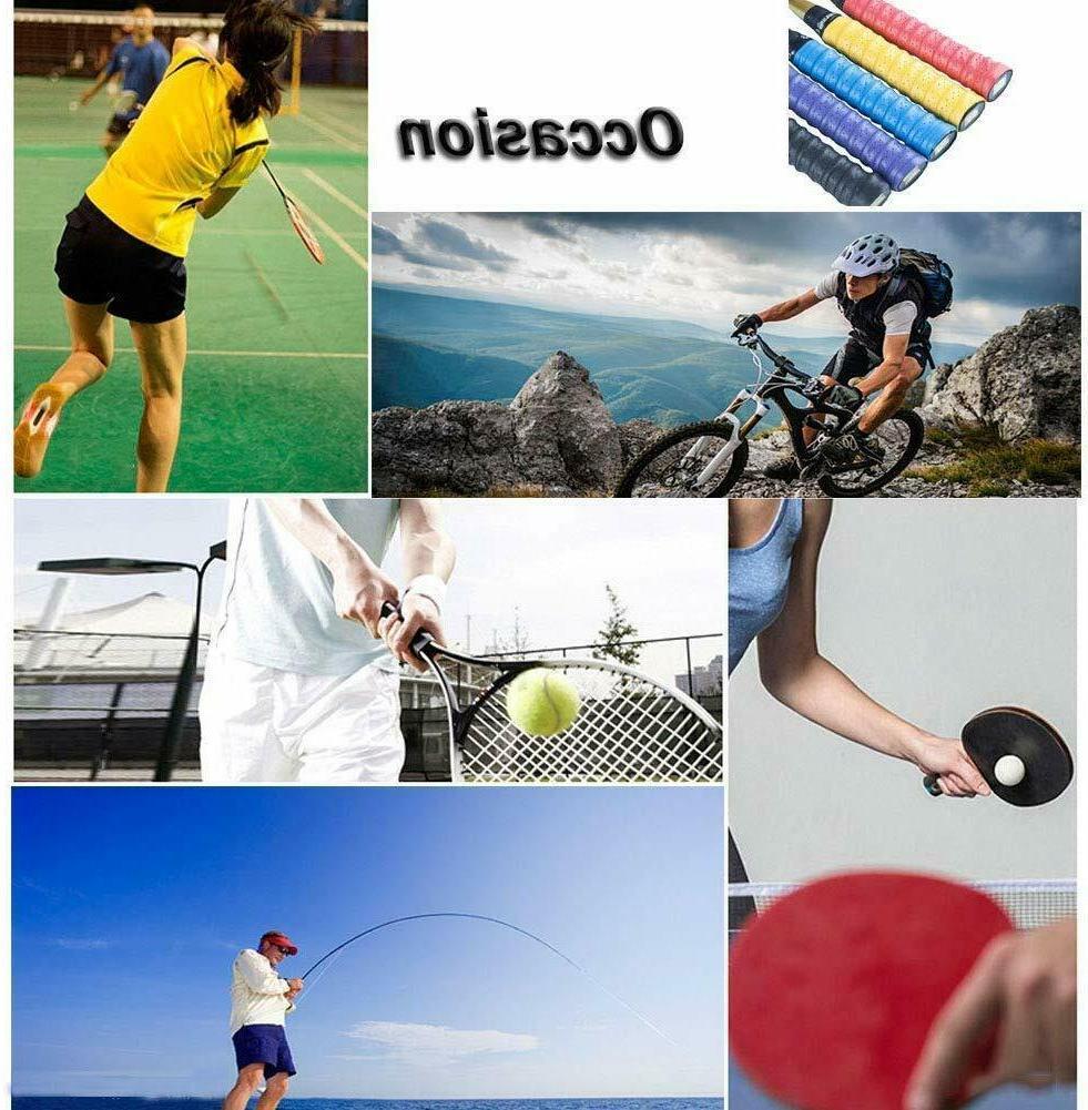 Senston New Racket Grip Anti Slip Perforated Absorbent Tennis Overgrip Bad
