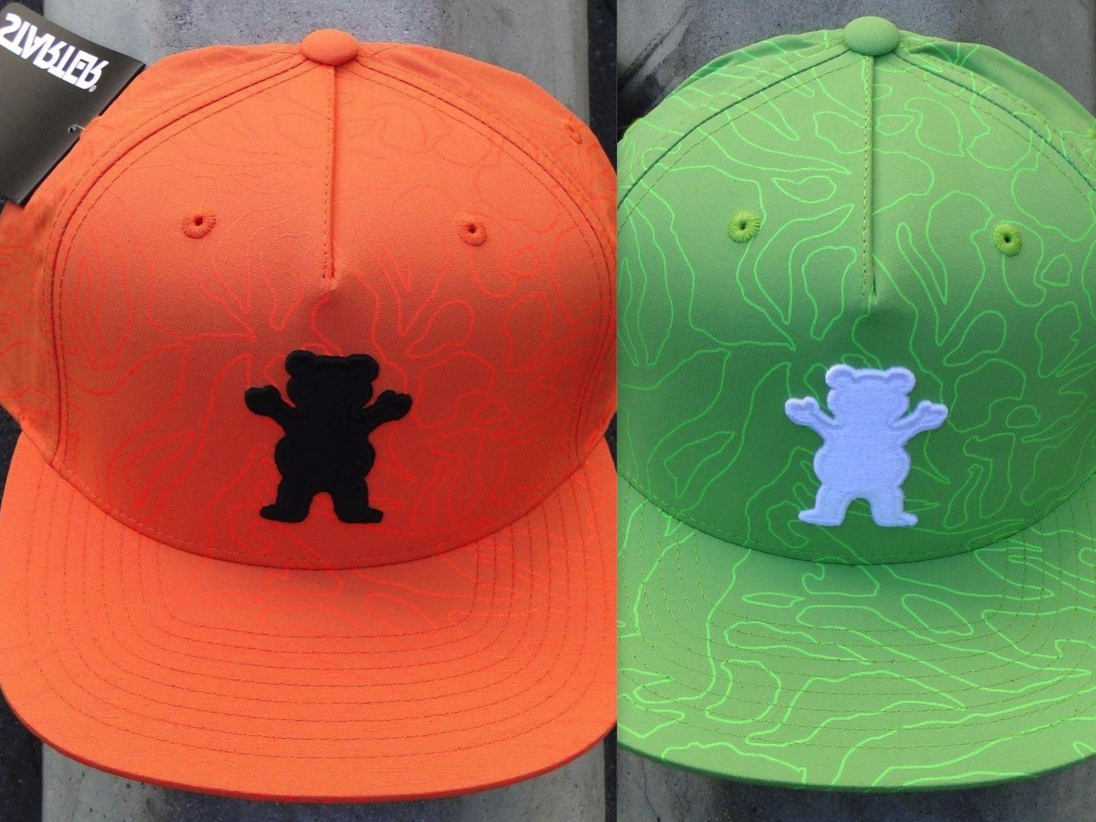 New Grizzly Griptape Skate Co. Topography OG Bear Mens Snapb