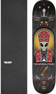 "Alien Workshop  Priest 8.25"" Skateboard Deck + griptape"