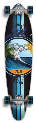 punked graphic kicktail complete longboard