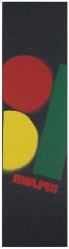 rasta stencil logo skateboard grip