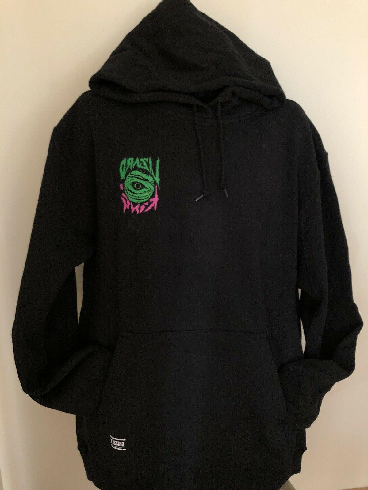 Grizzly Hoodie Black L Lizard