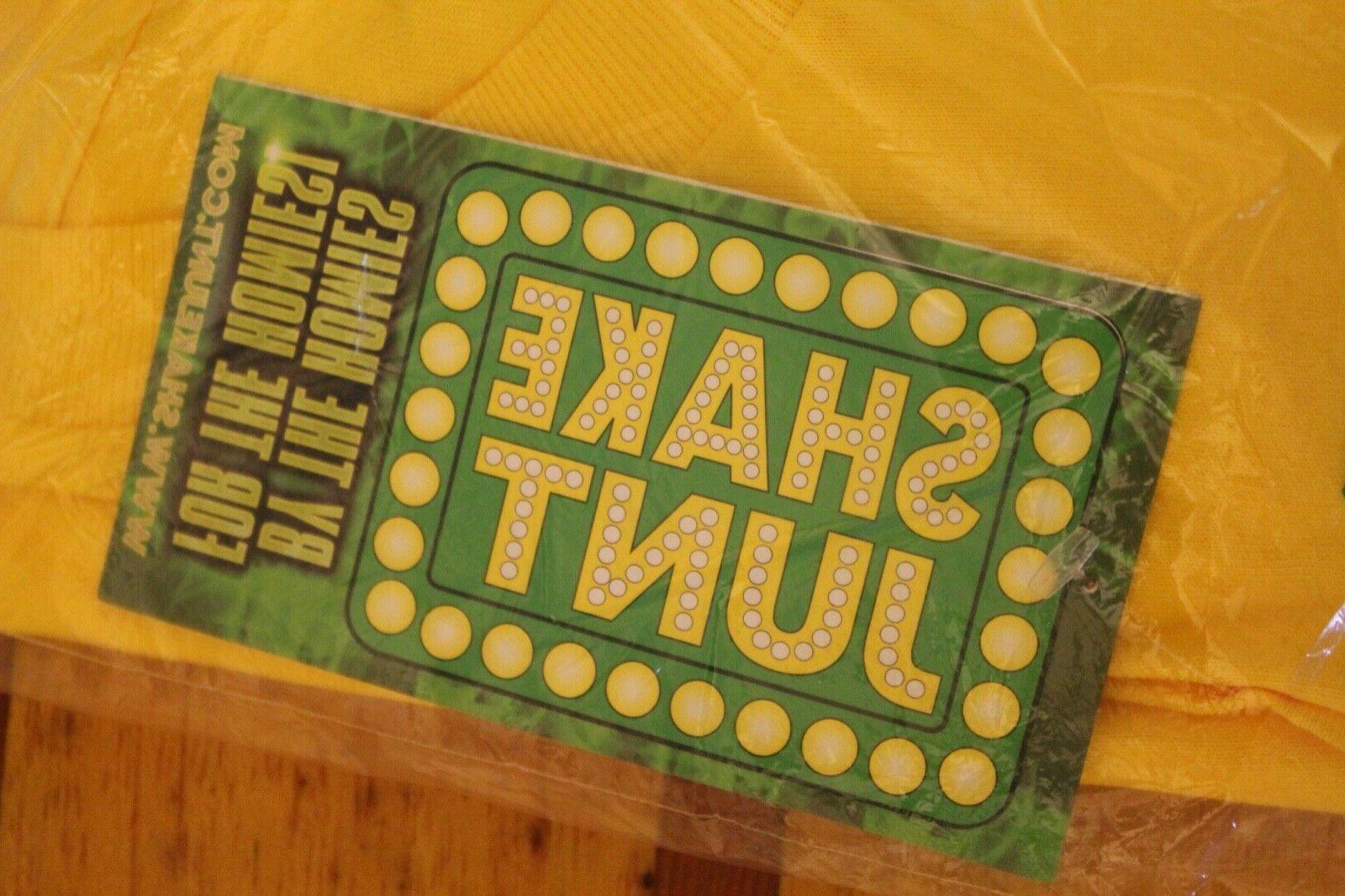 SHAKE Skateboard Tape Large Yellow T-Shirt