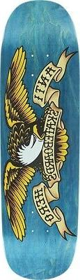 ANTI HERO SHAPED EAGLE SKATE DECK-8.75x32.55 BLUE MEANIE w/