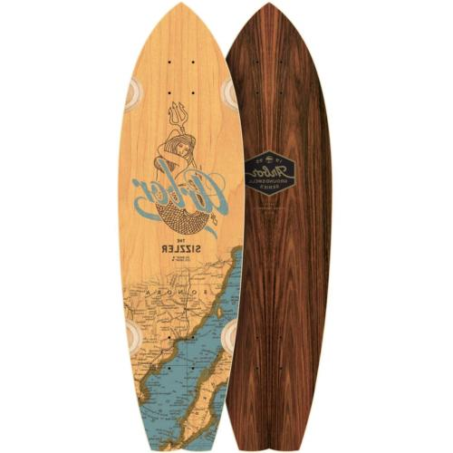 "Arbor Sizzler 31"" Longboard Skateboard Groundswell - Deck On"
