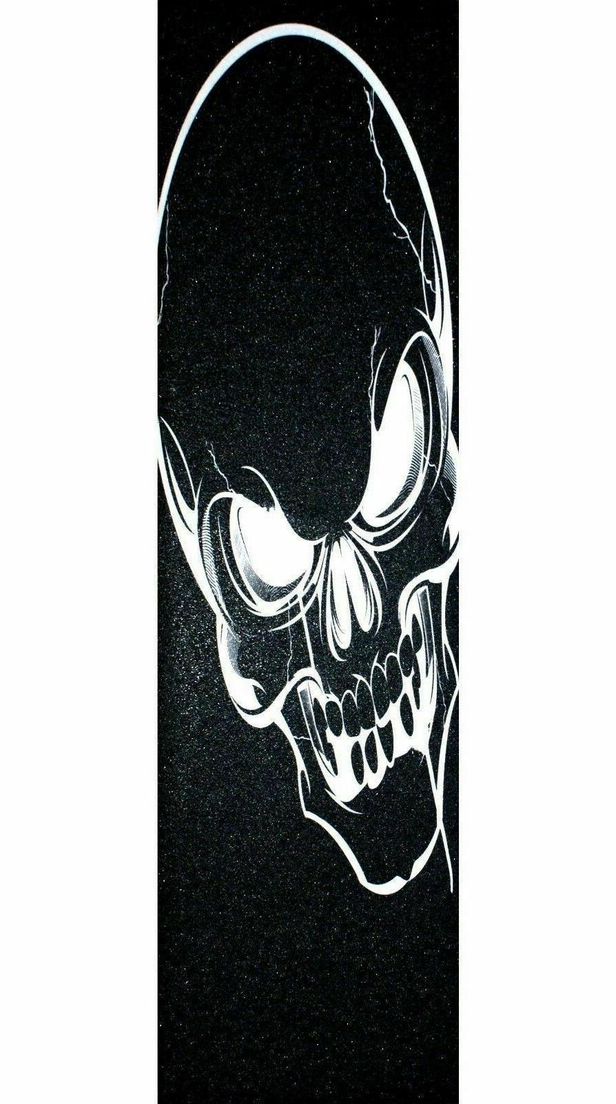 """Skateboard Grip tape Skull 9"""" x 33"""" Griptape"""