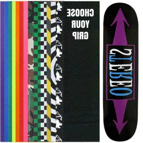 skateboard deck arrows black purple 7 75