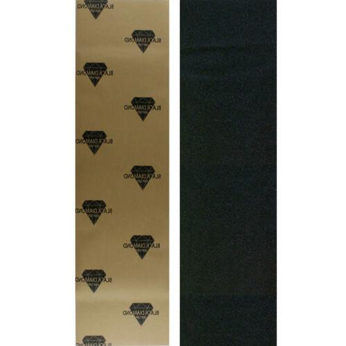 Black Diamond Skateboard Grip Tape Sheet Black 9 in