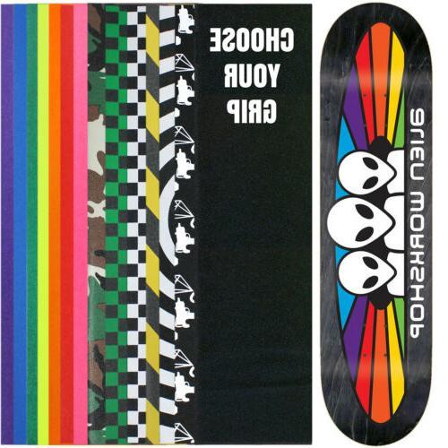 "ALIEN WORKSHOP Skateboard Deck SPECTRUM 7.875""  With Griptap"