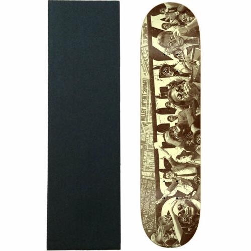 skateboard deck they panic brown 8 06