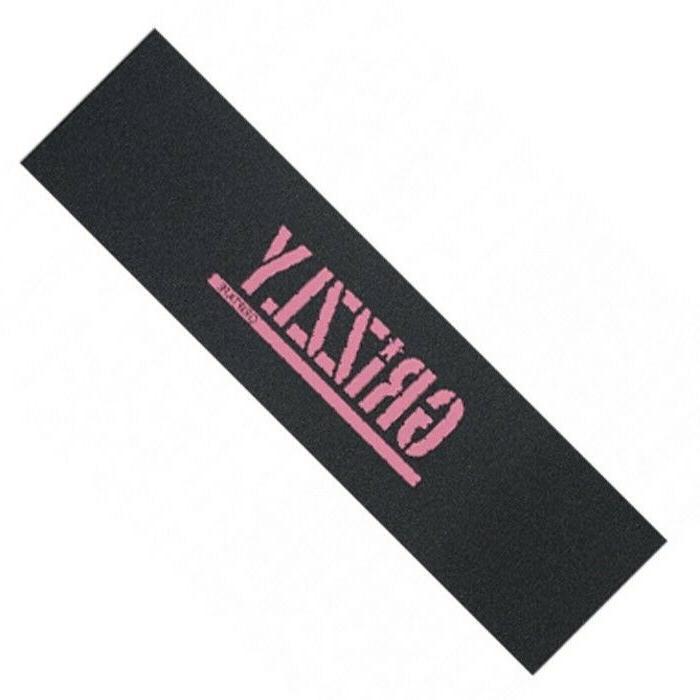 skateboard grip tape sheet pink stamp 9