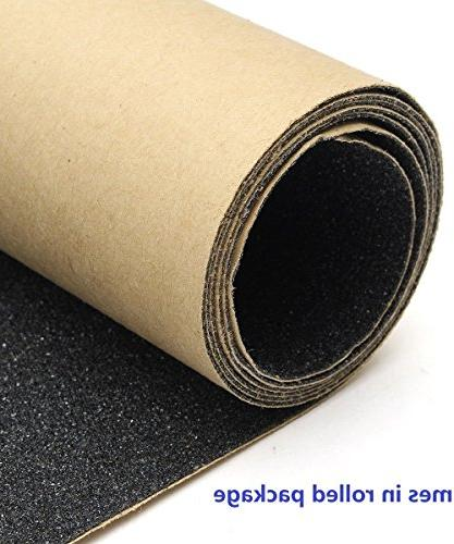 "11"" Grip Tape Bubble Waterproof Scooter Grip Tape, Griptape, Sandpaper for Stairs, Wheelchair,"