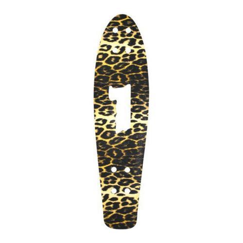 skateboard griptape 27 in leopard print