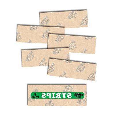 "Mob Skateboard Griptape Clear Grip Strips 5 Pack 9"" x 3.25"""