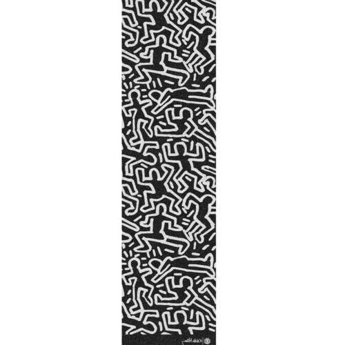 """Element Skateboard Griptape Keith Haring Allover Black 9"""" x"""