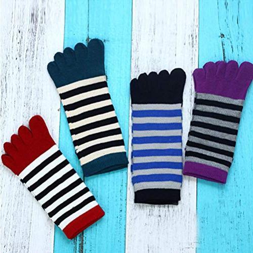 Socks, Cotton Toe Striped Five