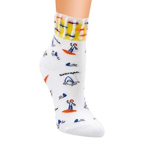 socks foruu women cute horizontal love pattern