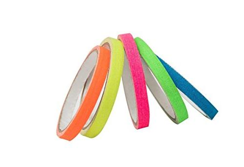 Spike Tape,Gaffer Rainbow Colors Line Adhesive Tape,Dry whiteboard,Pinstripe Tape for Stages, 11 Yards