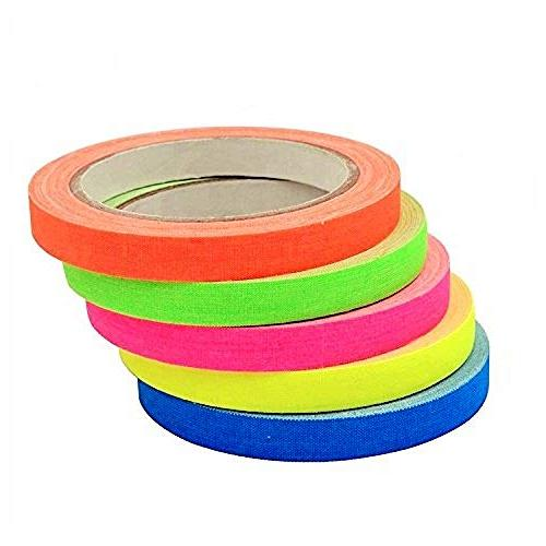 Spike Tape Rainbow Grid and Line Tape,Dry whiteboard,Pinstripe Floors, Stages, Sets,Metal,0.5inch
