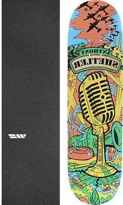 """All I Need Skateboards The Voice 8.1"""" Skateboard Deck + grip"""