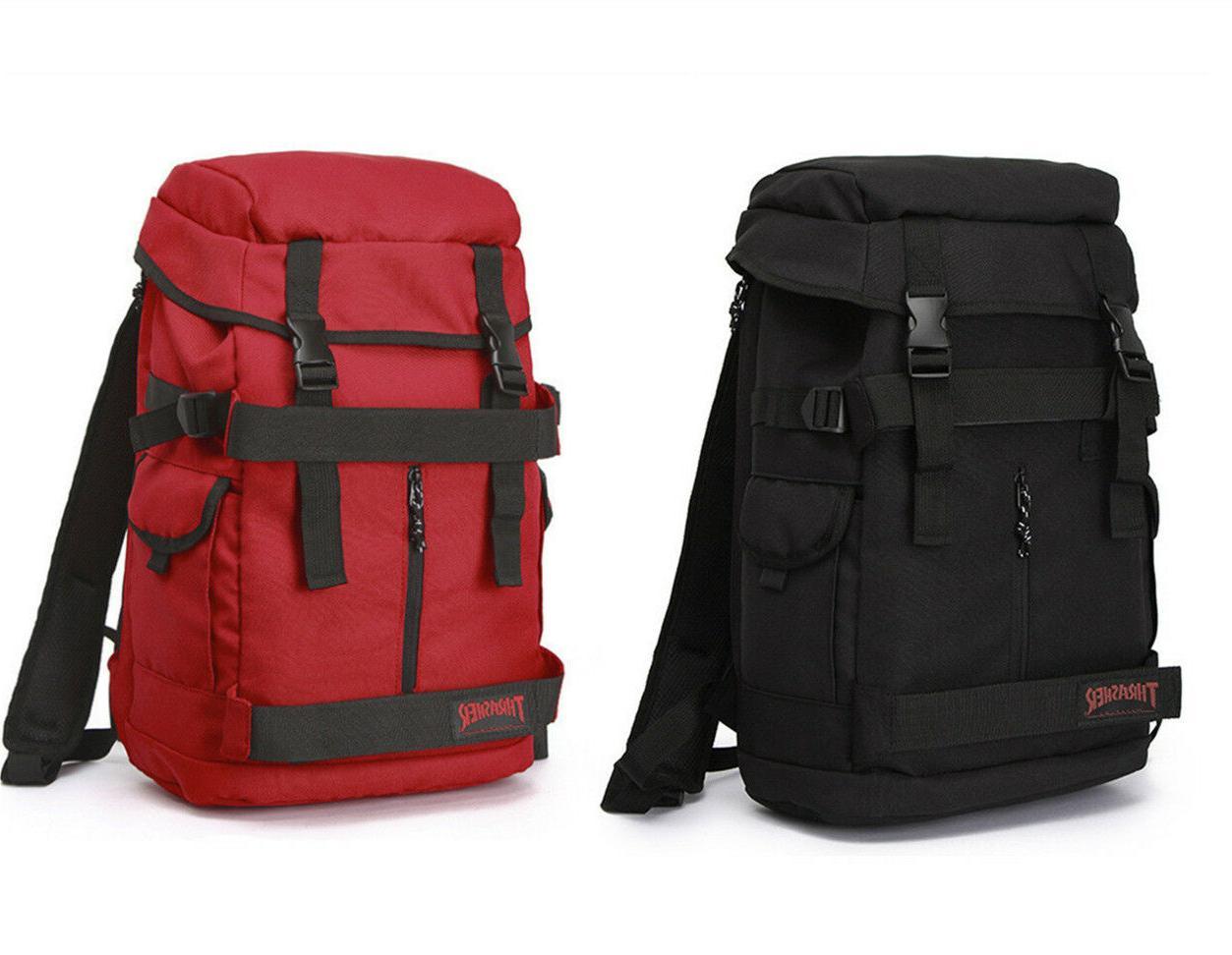 thrasher skateboard grip tape backpack school bag
