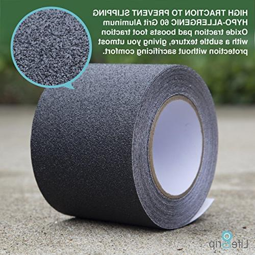 Best Value! Traction + Roller - Inch x 30 Best Grip, Abrasive Adhesive Step, Indoor, Outdoor, Black