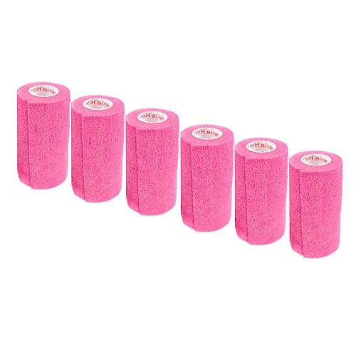 Prairie Horse Supply Vet Self Wrap Self Adhering Self Grip 6 Rolls Pink