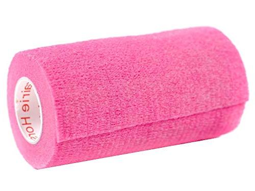 Prairie Supply Vet Rap Tape Self Adherent Self Roll - 6 Rolls - Pink