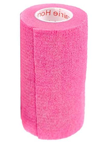 Prairie Supply Vet Tape Self Adhering Self Grip 6 Rolls - NEON Pink