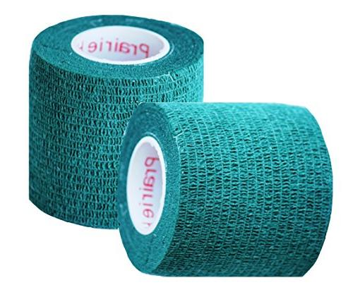 Prairie Supply Vet Tape Self Wrap Tape, Self Adhering Bandage, Self 12 Rolls Green
