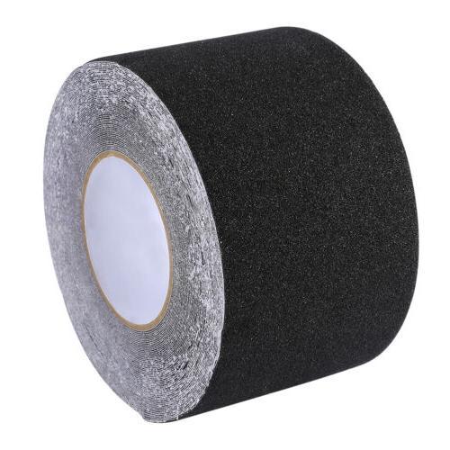 "4"" 65.6' BLACK Roll Safety Tape Sticker"