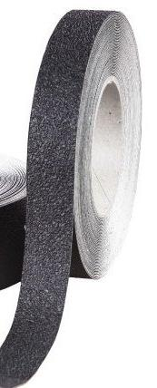 "Safe Way Traction 1"" X 60' Foot Roll of Black Rubberized Ant"