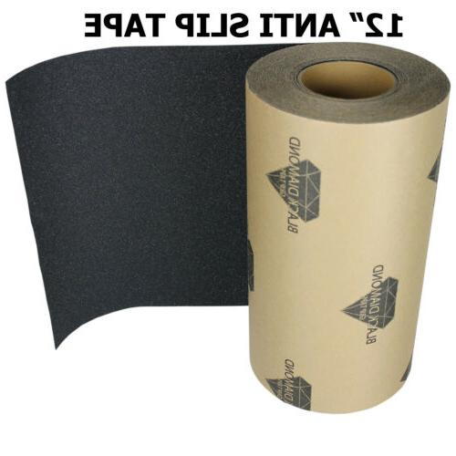 "12"" x 20' BLACK Roll Safety Non Skid Tape Anti Slip Tape Sti"