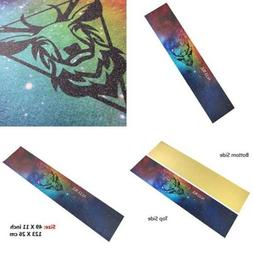 "ALLURE Longboard Skateboard Grip Tape Sheet 11"" x 49"" Colour"