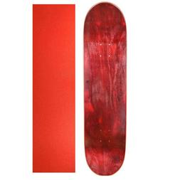 "Cal 7 Maple 7.75"" Skateboard Deck Red/Red with Red Grip Tape"