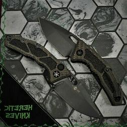 Heretic Knives Medusa OTS Tanto DLC S35VN Carbon Fiber with