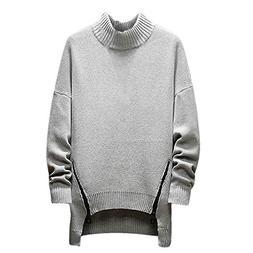 Realdo Men's Turtleneck Sweater, Mens Fashion Casual Solid L
