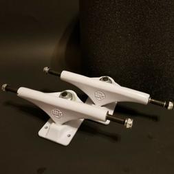 """NEW! Mini Logo 8.5"""" White Skateboard Trucks Set Of 2 & Bla"""