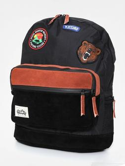 New Grizzly Griptape Outdoor Black Mens Backpack School Bag