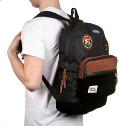 New Grizzly Griptape Outdoor Black Mens Backpack School Trav
