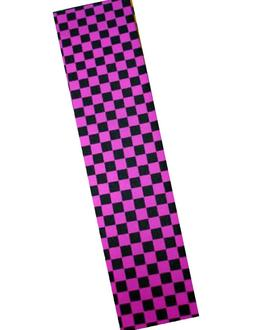 "NEW PRO SKATEBOARD GRIP TAPE CKECKER BLACK/PINK GRAPHIC 33""X"