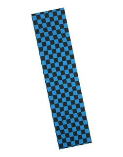 "NEW PRO SKATEBOARD GRIP TAPE CKECKER BLACK/BLUE GRAPHIC 33""X"
