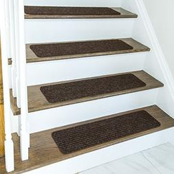 Non Slip Carpet Stair Treads + Double sided tape - Set of 13