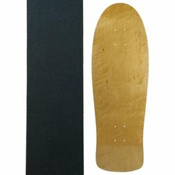 Moose Old School Skateboard Deck with Grip, Natural