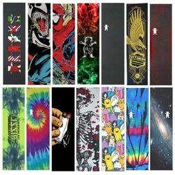 "Pro Skateboard Grip Tape 9x33"" Sheet Graphic Griptapes Board"