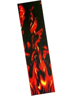 Pro Skateboard Grip Tape With Flame Graphic 33x9""