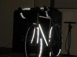 Velo REFLECTIVE Road Bike Handlebar Tape Bicycle Bar Wrap Bl
